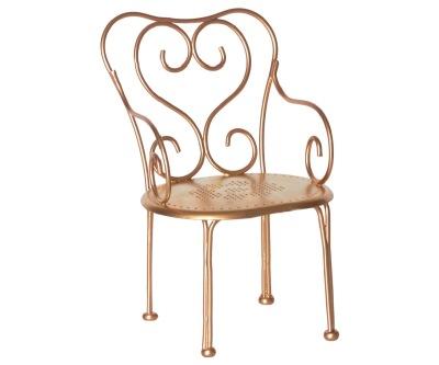 Maileg Romantic Chair Mini Gold - Maileg Romantic Chair Mini Gold