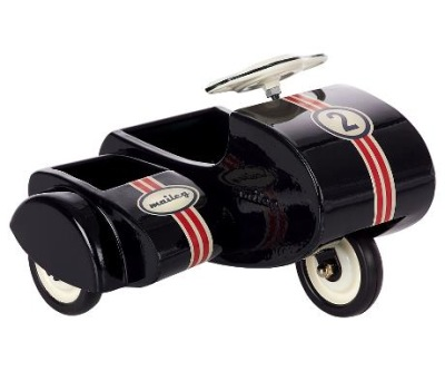 Maileg Scooter Sidecar Metal Black - Maileg Scooter Sidecar Metal Black