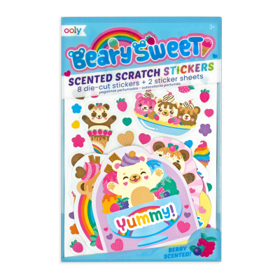Ooly Beary Sweet Scented Stickers - Ooly Beary Sweet Scented Stickers