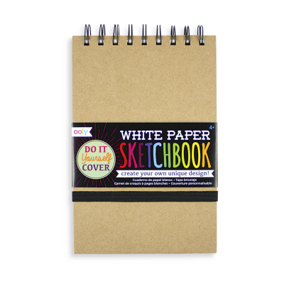 Ooly White Diy Cover Sketchbook - Ooly White Diy Cover Sketchbook ( Liten )