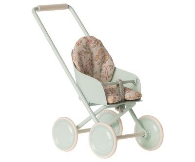 Maileg Stroller Micro Sky Blue - Maileg Stroller Micro Sky Blue