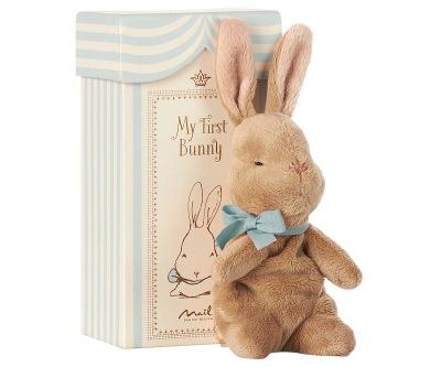 Maileg My First Bunny In Box Blue - Maileg My First Bunny In Box Blue