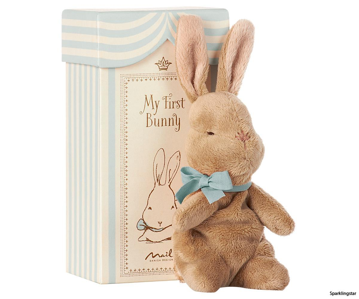 Maileg My First Bunny In Box Blue