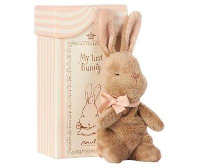 Maileg My First Bunny In Box Rose - Maileg My First Bunny In Box Rose