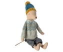 Maileg Winter Mouse Medium Boy - Maileg Winter Mouse Medium Boy