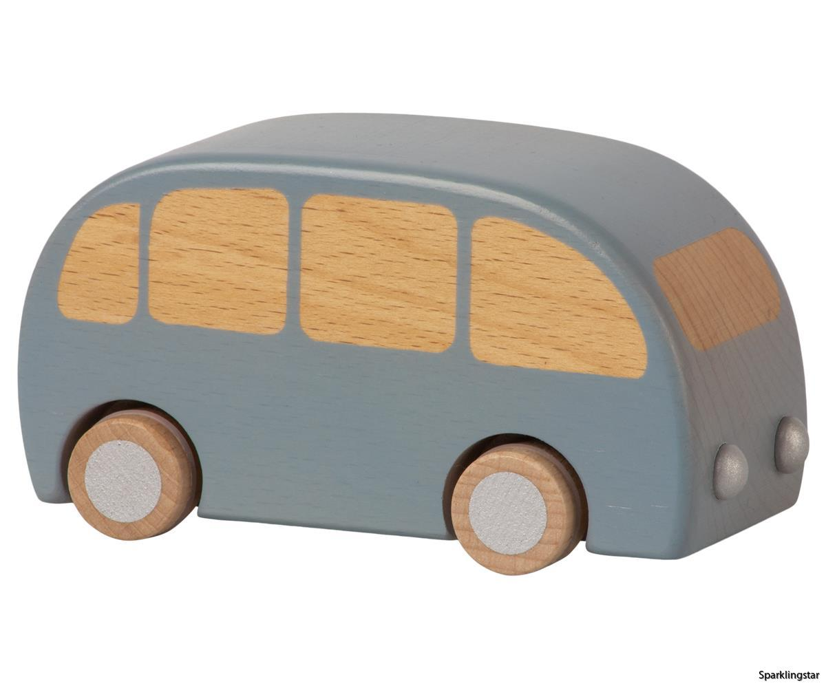 Maileg Wooden Bus Blue