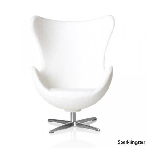 Minimii Arne Jacobsen Ägget Fåtölj Vit