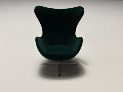 Minimii Arne Jacobsen Ägget Fåtölj Royal Green - Minimii Arne Jacobsen Ägget Fåtölj Royal Green