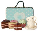 Maileg Suitcase With Cakes & Tableware For 2 - Maileg Suitcase With Cakes & Tableware For 2