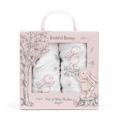 Jellycat Bashful Pink Bunny Snuttefilt - Jellycat Bashful Pink Bunny Snuttefilt