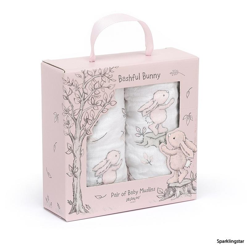 Jellycat Bashful Pink Bunny Snuttefilt