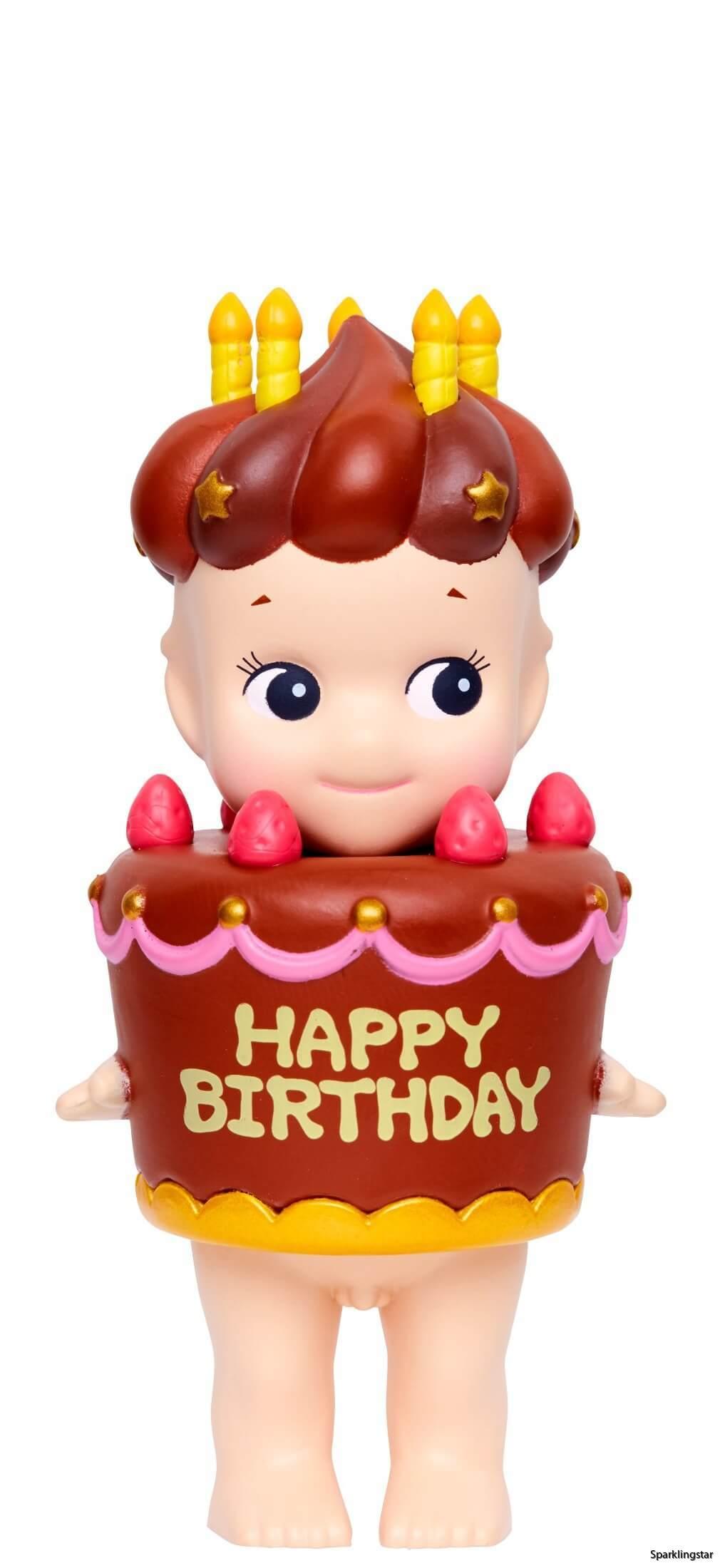 Sonny Angel Birth Day Gift Chocolate Cake
