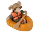 Maileg Rubber Boat Mouse Dusty Yelow