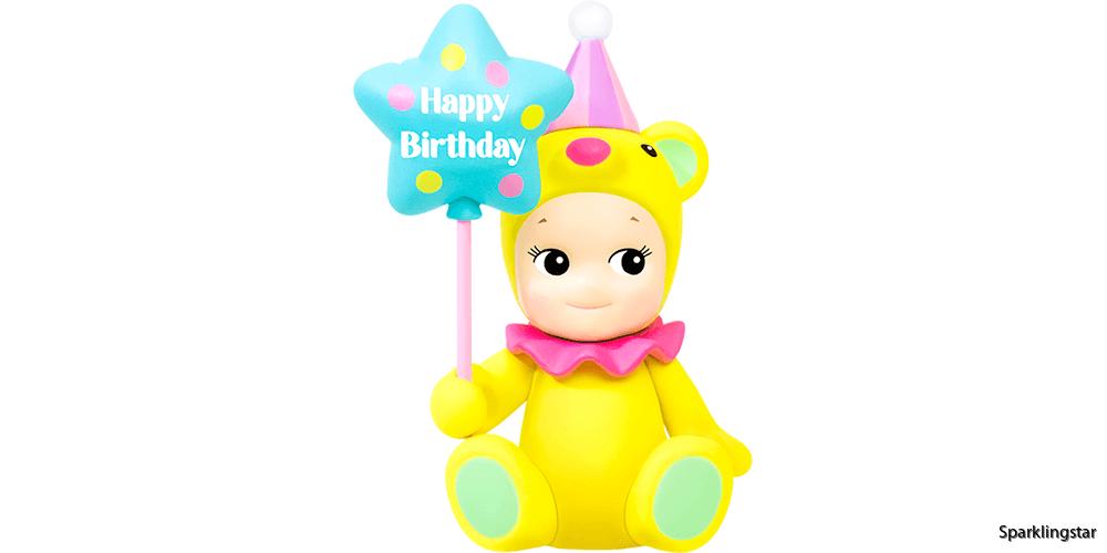 Sonny Angel Birthday Gift Bear Star Balloon