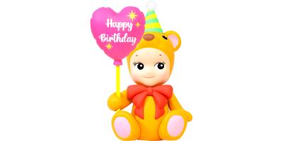 Sonny Angel Birthday Gift Bear Heart Balloon - Sonny Angel Birthday Gift Bear Heart Balloon
