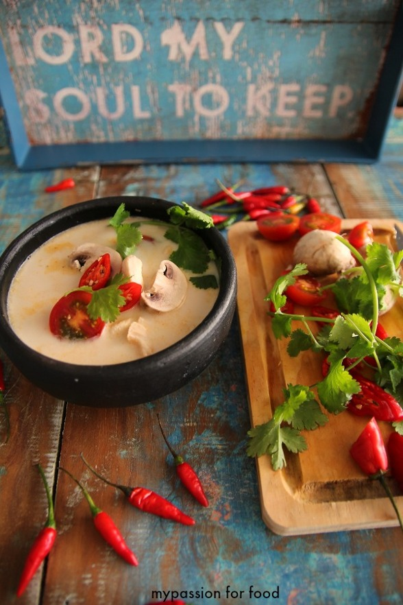 Thai Chicken Soup with Coconut Milk