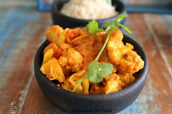 Cauliflower Cashew Masala
