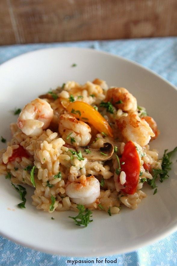 Seafood risotto