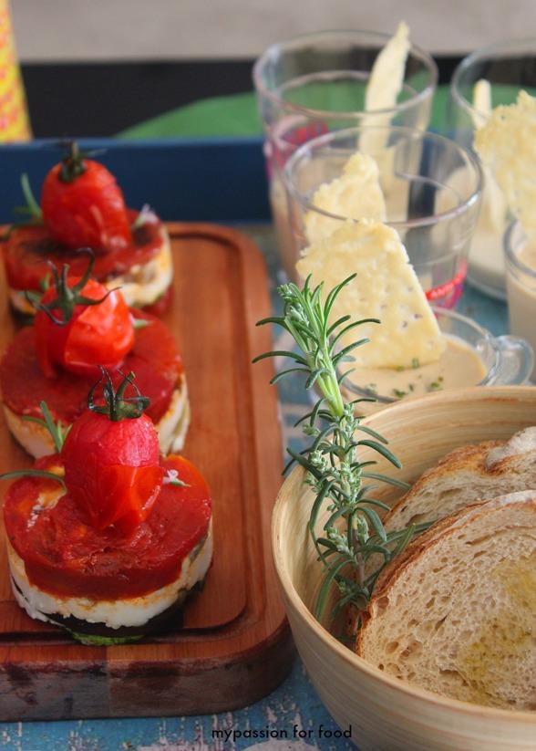 Vegetable terrine and Mushroom Pannacotta