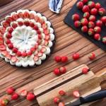 Kladdkaka, mascarpone krem, truskawki2