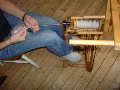 handspinning av angoraull