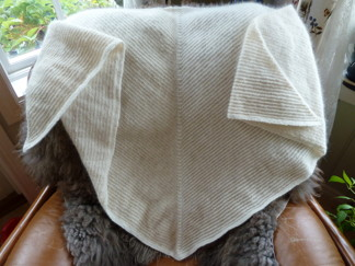 Angorasjal med skuggeffekt i silke - Stickpaket - Stickpaket Sjal Angora & Silke/ull