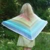 Sjal i glada färger - Stickpaket