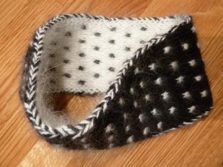 Dubbelstickat Pannband