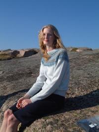 """Blå Skimmer"" jumper. Foto S. Gustafsson"