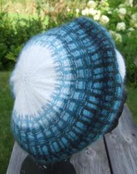 """Gallret Blått"" tam. Also avilable as a hat. Photo S. Gustafsson"