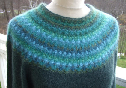 """Green Wood"" pullover. Photo S. Gustafsson"