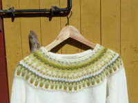 """Lemon, white"" pullover. Photo P. Silfverberg"