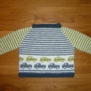 Babytröja med bilar - Stickpaket