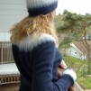 Blå Dimman pullover cardigan Bohus Stickning - The Blue Mist hat kit english instruction