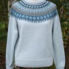Blå Skimmer pullover cardigan Bohus Stickning - Blue Shimmer light blue mc pullover/cardigan kit english instruction
