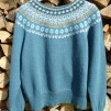 Blå Skimmer pullover cardigan Bohus Stickning - Blue Shimmer dark blue mc pullover/cardigan kit english instruction
