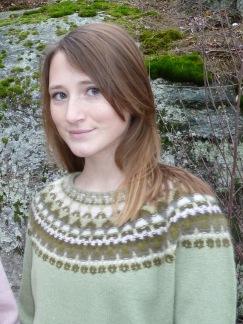 Canna grön pullover cardigan Bohus Stickning - Canna grön jumper/kofta kit