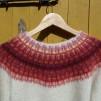 Gallret Rött På Ljus Botten pullover cardigan Bohus Stickning - The Grillwork red on light mc pullover/cardigan kit english instruction