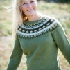 Mörkt Löv pullover cardigan Bohus Stickning - Dark Leaves pullover/cardigan kit english instruction