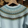 Bleka Skimret pullover cardigan Bohus Stickning - The Pale Shimmer pullover/cardigan kit english instruction