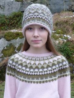 Canna rosa pullover cardigan Bohus Stickning - Canna rosa jumper/kofta kit