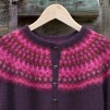 Nya Azalean Aubergine pullover cardigan Bohus Stickning - The New Azalea aubergine mc pullover/cardigan kit english instruction