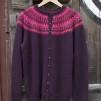 Nya Azalean Aubergine pullover cardigan Bohus Stickning