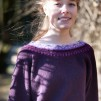 Svanen Lila pullover Bohus Stickning - The Purple Swan pullover kit english instruction
