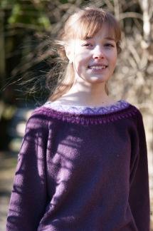 Svanen Lila pullover Bohus Stickning - Svanen Lila jumper kit