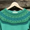 Svanen Grön pullover Bohus Stickning - The Green Swan pullover kit english instruction