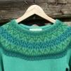 Svanen Grön pullover Bohus Stickning - The Green Swan pullover kit english instruction