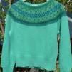 Svanen Grön pullover Bohus Stickning