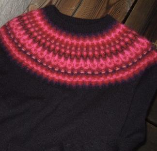 Nya Azalean Svart pullover cardigan Bohus Stickning - Nya Azalean Svart jumper/kofta kit