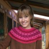 Svanen Röd pullover Bohus Stickning - The Red Swan pullover kit english instruction